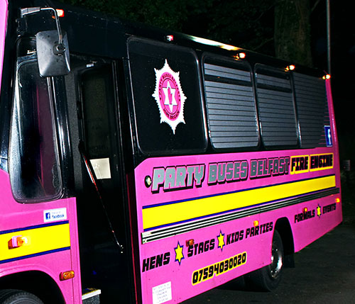 fire engine party bus Belfast
